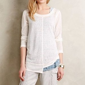 Anthropologie Akemi + Kin White Ezri Sweater